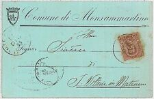 CARTOLINA d'Epoca ASCOLI PICENO provincia - Monte San Martino MONSAMMARTINO 1899