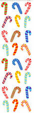 Mrs. Grossman's Stickers - Tiny Candy Canes - Bright Multi Colors - 4 Strips