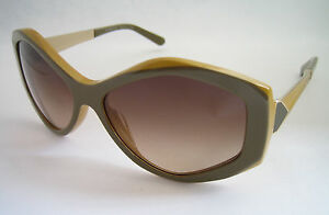 BURBERRY SUNGLASSES BE 4133 3362/13 KHAKI TOP MUSTARD BNWT GENUINE