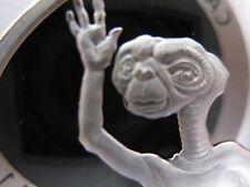 4-OZ.  SILVER 1982 E.T. SET OF-4  UNIVERAL STUDIOS+GOLD
