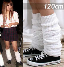"Japan High School Student Uniform Thigh Leg Warmer Bubble Loose Socks 120cm/47"""