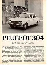 1971 PEUGEOT 304  ~  ORIGINAL 4-PAGE ROAD TEST / ARTICLE / AD