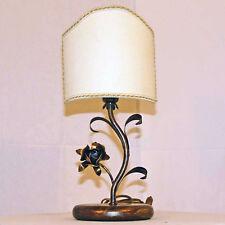 LUME LAMPADA DESIGN ART.169 FERRO BATTUTO FORGIATO PARALUME VENTOLINA MADE ITALY