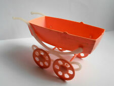 1960s Ussr Russian Soviet Plastic Toy Rose Baby Carriage for Doll