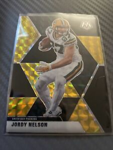 Mosaic NFL 2020 Green Bay Packers Jordy Nelson Black Gold Card #8/8