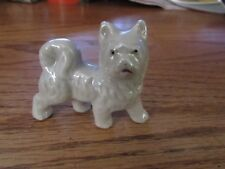 New ListingAkita Dog Figurine White Porcelain - Opalescent