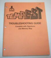 Tempest Original Atari 1981 Video Arcade Game Troubleshooting Service Manual 2nd