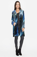 💖 NWT Johnny Was DAGUERRIE Blue Velvet BIYA Long Jacket Coat Duster S M $378💖