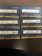6-Hynix  4GB 1Rx8 PC3L-12800S 1600MHz 1.35V Laptop SDRAM P/N : HMT451S6BFR8A-PB