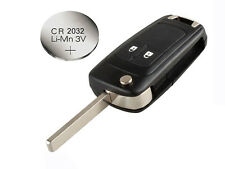 Fits Chevrolet Aveo Cruze 2 Button FOB Remote Key  CASE Uncut Blade +  battery