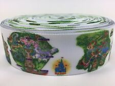 Sale!.2 Yards 1 1/2 Inch Disney World Park Maps Grosgrain Ribbon Lisa