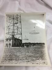 "Vintage B&W 8""x10"" photo of Army Troops Parachuting"