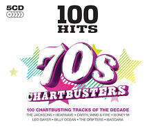 100 Hits 70s Chartbusters 5 CD Set Dawn T Rex Rollers Dr Hook Seekers