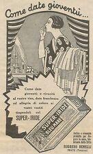 W6950 Super-Iride Bleu Mare - Come date gioventù... - Pubblicità 1925 - Advert.