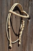 Jose Ortiz All Natural Rawhide Santa Maria Style Straight Browband Headstall