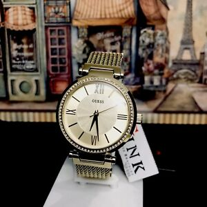 AUTHENTIC GUESS LADIES' SOHO WATCH GOLD TONE RRP:$449 0638L2 Brand New