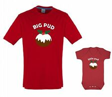 BIG PUD little pud adult T shirt child baby grow combo Christmas xmas gift set