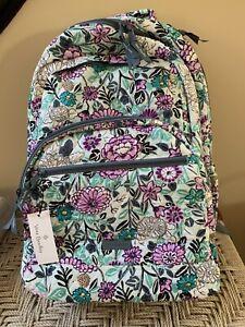 VERA BRADLEY Essential Large Backpack Penelope's Garden Hedgehog School Bag NWT