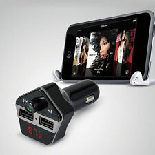 Bluetooth Car Kit Mp3 FM Transmitter USB Charger Handsfree for iPhone Android
