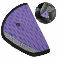 Comfortable Seat Belt Adjuster Car Child Safety Cover Harness PURPLE Tri-Pad