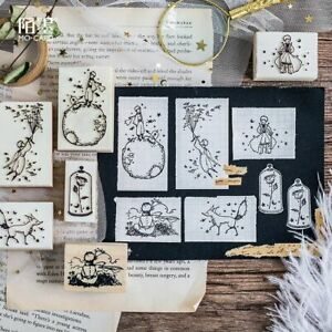 Wood Rubber Stamps Scrapbooking Picture Making Crafts Cards DIY Office Accessory