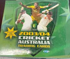 CRICKET AUSTRALIA 2003/04 TRADING CARDS SEALED BOX 1 X AUTOGRAPH CARD PER BOX