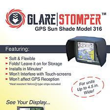 GlareStomper MAXIMUM Shade - Folding GPS Sun Visor for 3.5  in. Displays