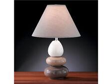 Keramikfuß creme braun weiß Schlafzimmerbeleuchtung Moderne Nachttischlampe