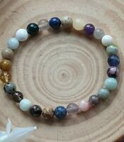 STRESS RELIEVE, ANXIETY & PROTECTION - CRYSTAL HEALING GEMSTONE BRACELET