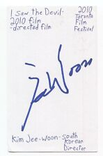 Kim Jee-woon Signed 3x5 Index Card Autographed Signature Director