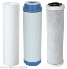 """Replacement filters for 3 Stage HMA Water filter system heavy metal filter 10"""""""