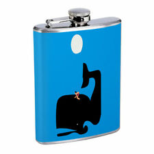 Whale Rider Em1 Flask 8oz Stainless Steel Hip Drinking Whiskey