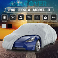 Outdoor Waterproof Windproof Adjustable Durable Car Cover For Tesla Model 3  ✌