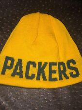 Green Bay PACKERS  TEAM NFL  DARK GREEN EMBROIDERED  OSFA BEANIE HAT - SMALL