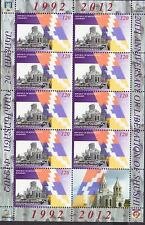 NAGORNO KARABAKH ARMENIA 2011 SHUSHI LIBERATION SHEET 120 DRAMS MNH R17529bv