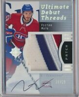 2017-18 Ultimate Debut Threads Rookie Patch AUTO Victor Mete /25 Canadiens