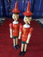 "Wooden Pinocchio Dolls 16"" Tall Circa 1960"