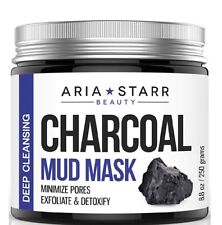 Activated Charcoal Mud Mask For Face, Acne, Oily Skin & Blackheads 8.8 oz