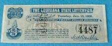 1891 THE LOUISIANA STATE LOTTERY CO- 20TH Class A - $1  #4487