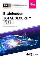 Bitdefender Total Security 2018 |5Devices |6 Months License Activation Key Code