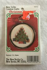 The New Berlin Co. Embroidery Ornament Kit - 30162 Christmas Tree NEW