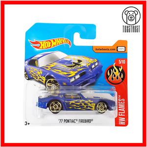 Pontiac Firebird 77 HW Flames 5/10 13/365 Short Card Diecast Hot Wheels Mattel