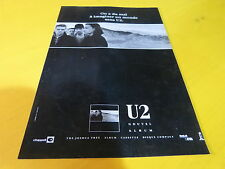 U2- JOSHUA TREE!!!!!!!!!!!!!!!!!!!!!FRENCH PRESS ADVERT
