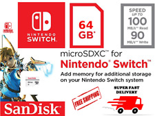 SanDisk 64 GB Nintendo Switch micro SD XC Card Class 10 Flash Storage Memory USA
