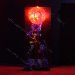 Akatsuki Itachi Uchiha Sharingan Naruto Anime Statue Figures Toys DIY LED Lamp