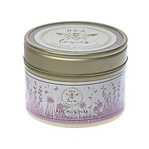 Bea Loves Natural Scented Soy Wax & Pure Beeswax 130g Candle: Ripe Fig & Pear
