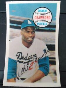 1970 Kellogg's 3-D #26 Willie Crawford Los Angeles Dodgers- NM/MT