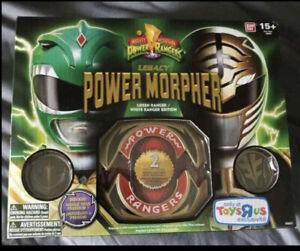 Legacy Green and White Ranger Power Morpher - Bandai - NEW SEALED