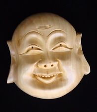 WOOD MASK HAPPY MAN SMILE wooden Handicraft Handmade Home decor gift India art