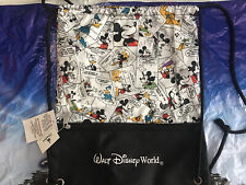 Disney Parks Mickey Mouse & Friends Comic Cinch Drawstring Sack Backpack Bag New